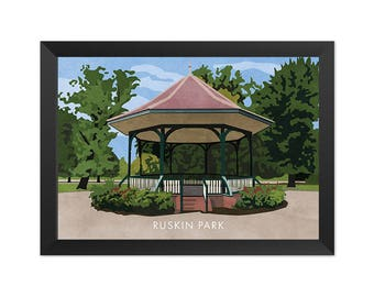 Ruskin Park SE5 - Giclée Art Print - South London Poster