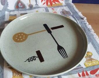 Vintage MCM dinner plate - Winfield China Gourmet pattern