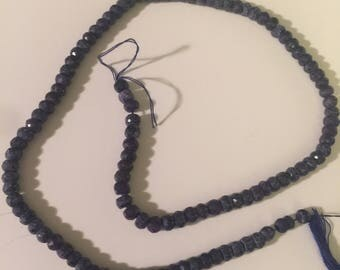 Faceted Lapis Beads