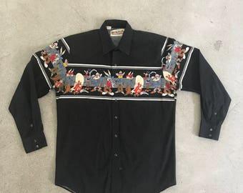 Vintage Karman Looney Tune Western Button Up