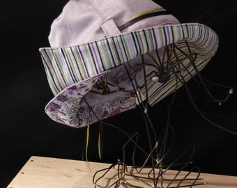 The hat or mid-season, purple and lime green.