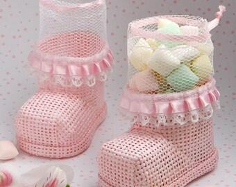 Pink Bootee Favor -  Babyshower/Christening/Birthday/Gift