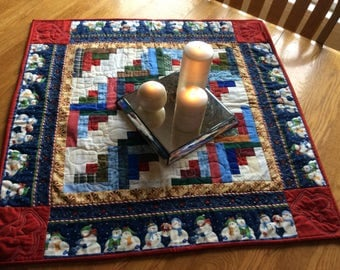 Quilt #Snoman Quilted Table Topper