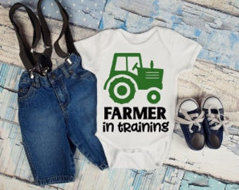 Farmer in Training Onesie®, Funny Onesies®, Funny Bodysuits, Baby, Baby Clothing, Baby Boy, Baby Gift, Baby Announcement, Baby Shower