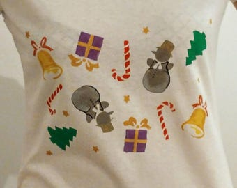 Festive fun print t-shirt