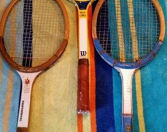 Individual Vintage Tennis Racquet
