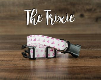 The Trixie - Fabric Dog Collar - Adjustable Collar - Custom Fabric