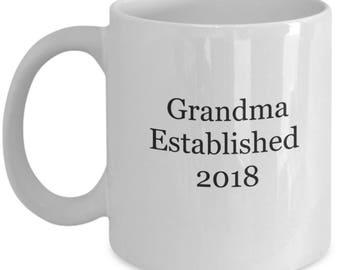Pregnancy reveal, grandmother gift, grandma mug, pregnancy reveal mug, grandma to be mug, new grandma gifts, first time grandma