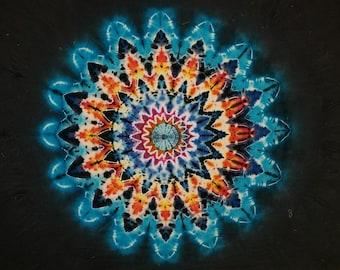 Tie - Dye Tapestry, 16 Point Star