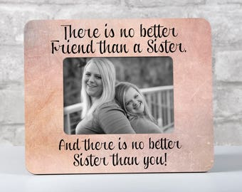 Personalized Sister Picture Frame, Sister Frame Wedding Sister Gift, For Sister From Sister, Maid of Honor Sister, Sibling Picture Frame
