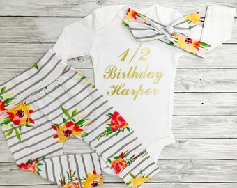 Half Birthday Girl, Half Birthday, Half Birthday Outfit Girl, Half Birthday Outfit, Half Birthday Shirt, It's My Half Birthday