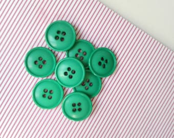 4 French vintage green buttons