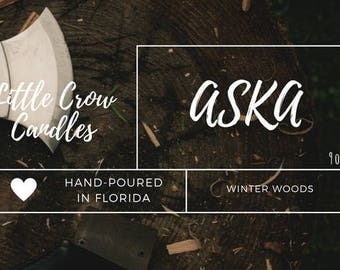 Aska   9 oz jar   Sky in the Deep Inspired Soy Candle