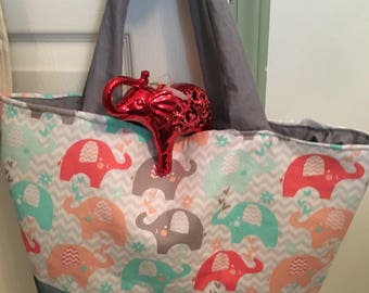 Elephant young child overnight diaperbag