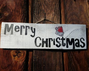 Merry Christmas Rustic Wood Sign | Wooden Christmas Sign | Christmas decor | rustic holiday decor | rustic Christmas sign | Holiday decor
