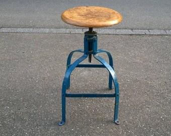 Industrial stool workshop model Bennett 203 industrial stool old factory plant