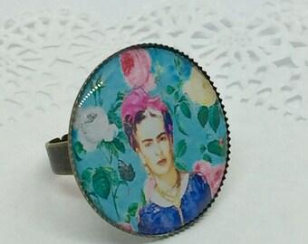 Frida Kahlo Azul round ring