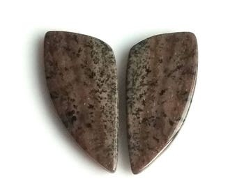 Honey Dendritic Fancy Pair Cabochon,Size- 26x12 MM, Natural Honey Dendritic, AAA,Quality  Loose Gemstone, Smooth Cabochons.