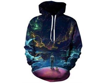 Galaxy Hoodie, Galaxy Sweatshirt, Galaxy, Galaxy Jumper, Galaxy Hoodies, Space, Space Hoodie, 3d Hoodie, 3d Hoodies, Hoodie - Style 52