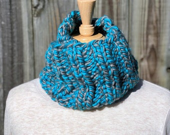 Handmade Knitted Infinity Scarf