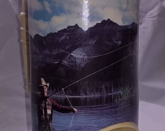 Vintage Coors Beer Stein with Fly Fisherman numbered