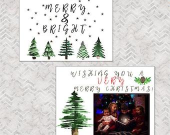 Christmas tree card template 5x7