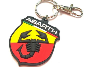 Fiat 500 Abarth keychain with Scorpion logo - rubber high quality keyring