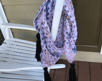 Triangle Scarf With Tassels
