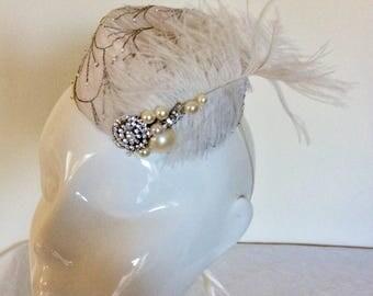Pearl Pillbox Hat Vintage style