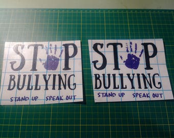 Stop Bullying stand up speak out