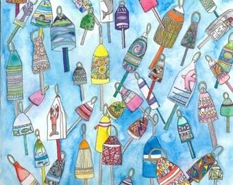 Many buoys