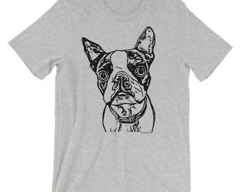 Boston Terrier T-Shirt | Bostie T-Shirt | Dog T-shirt | Dog Breed T-Shirt | Dog Art Shirt | Dog Lover's T-Shirt | Boston Terrier Shirt