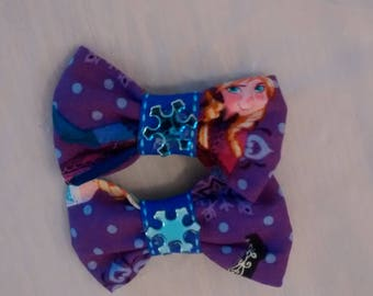 Frozen Inspired Fabric Bow Set
