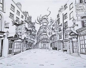 Print of Diagon Alley