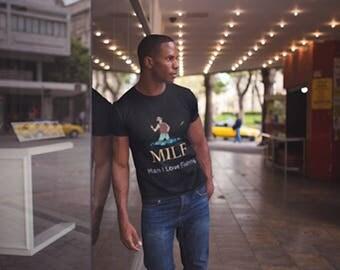MILF - Man I Love Fishing - Fishing Tshirt for Men- Short-Sleeve Unisex T-Shirt