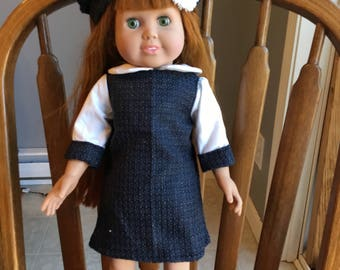 """Wool dress for 18"""" dolls such as American girl"""