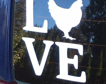 Chicken Love Decal