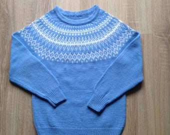 Merino wool knitted warm winter sweater pullover for kids