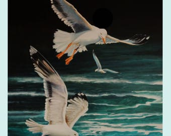 "FLYING LOW"", 70x100cm, Oil on Canvas"