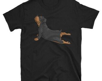 Rottweiler Yoga T-Shirt Funny Dog Gift Shirt