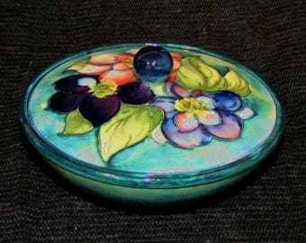Lovely and colorful Moorcroft Bowl with Lid
