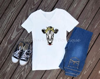 Cow With Scarf T-Shirt