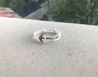 Anchor - white Paracord - handmade bracelet