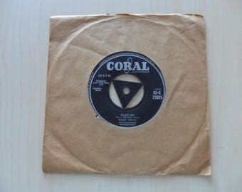 Buddy Holly Rave On / Take your Time 45-Q72325 Tri Centre  Rock N Roll 50s