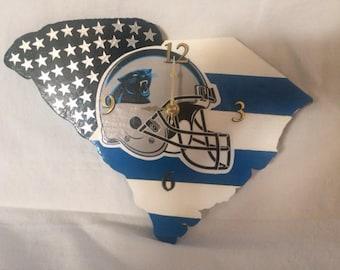Carolina Panthers Handmade Wall Clock
