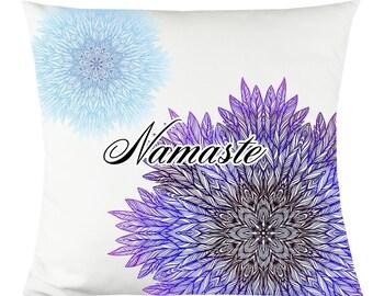 "Namaste Purple 14""x14"" Decorative Throw Pillow"