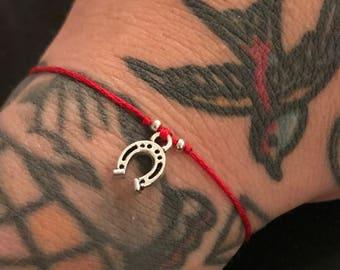 All The Luck - Horseshoe - red string - luck kabbalah bracelet
