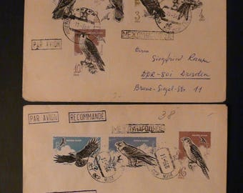 1965 Russia USSR Birds complete set on 2 envelope.Rare!