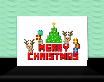 MINECRAFT Design Kids Christmas Card