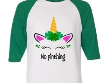 """SALE! """"No Pinching"""" Unicorn SVG,  St Patricks svg, St Patricks day SVG, clover svg, green svg, shamrock svg, irish svg"""